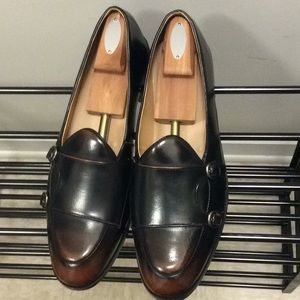 Men's Monk Brown Black Loafers